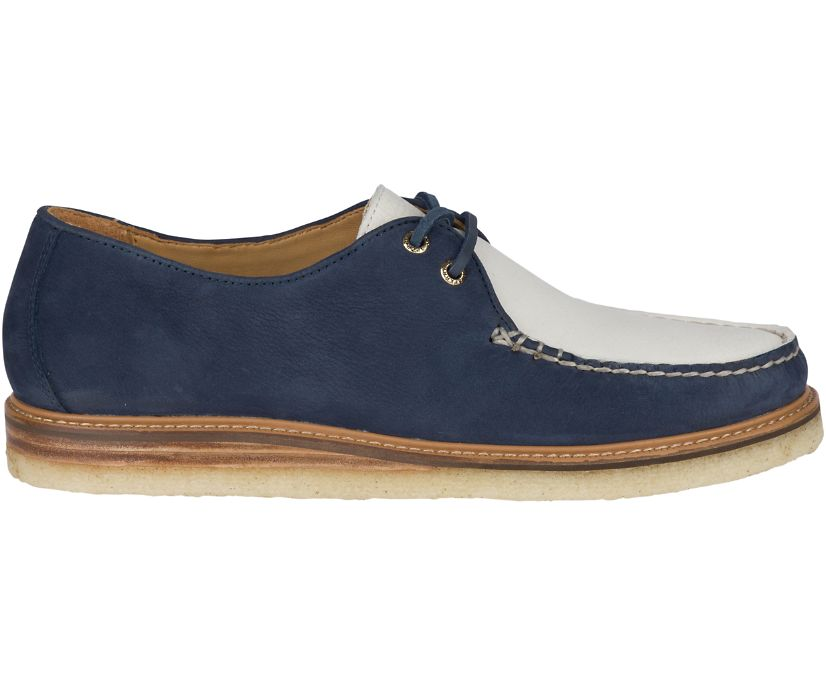 Gold Cup Captain's Crepe Oxford, Navy/Ivory, dynamic