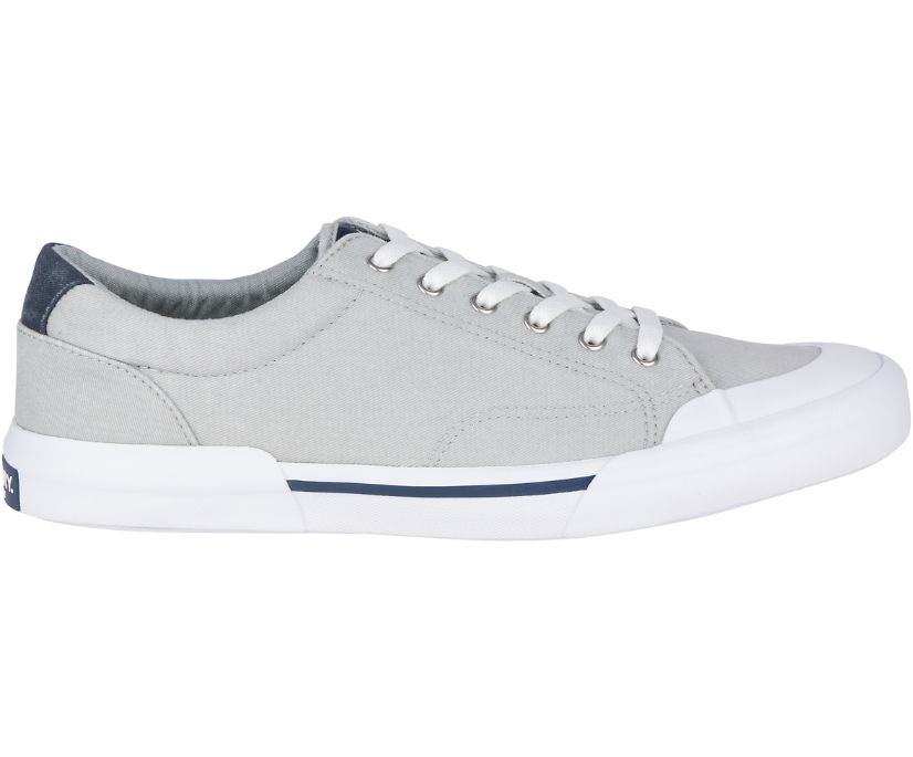 Striper II Retro Sneaker, Light Grey, dynamic