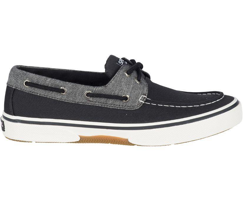 Halyard 2-Eye Chambray Sneaker, Black, dynamic
