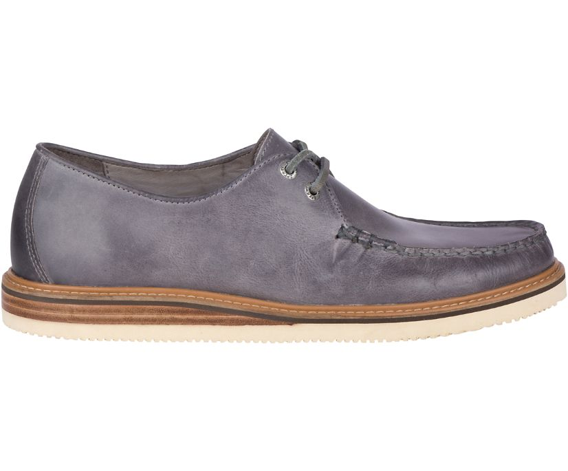 Gold Cup Captain's Leather Oxford, Grey, dynamic