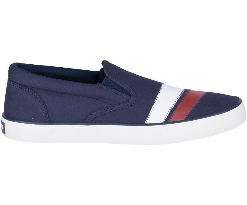 Cutter Slip On Nautical Stripe Sneaker, Navy, dynamic