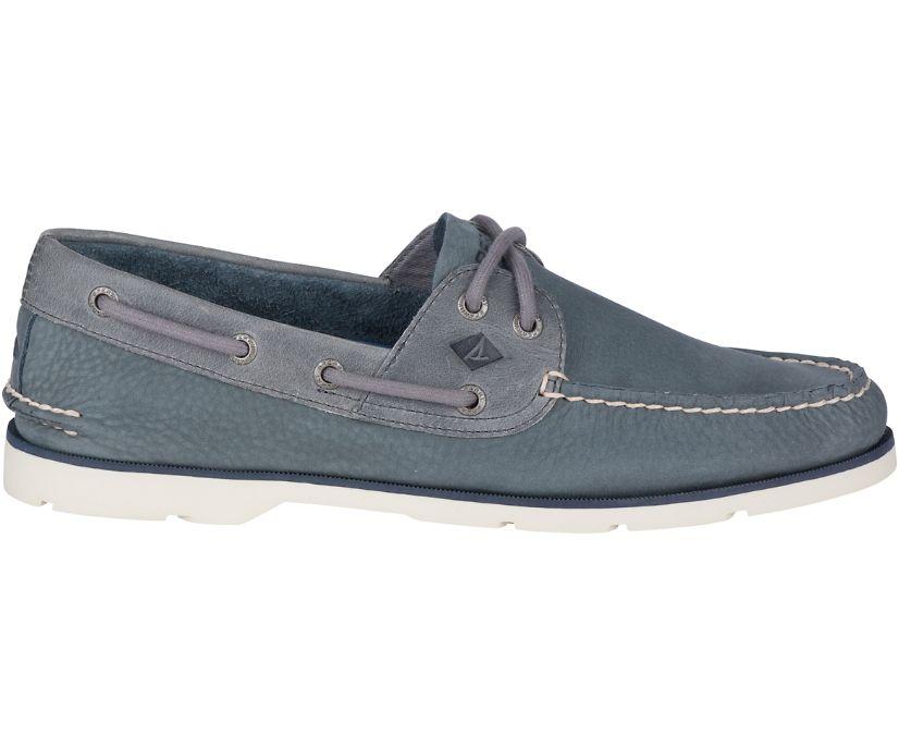 Leeward Nubuck Boat Shoe, Grey, dynamic