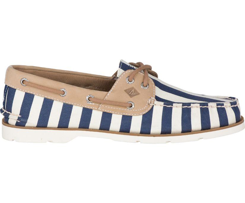 Leeward Vintage Stripe Boat Shoe, Navy, dynamic