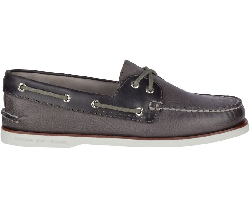 Gold Cup Authentic Original Rivingston Boat Shoe, Grey, dynamic