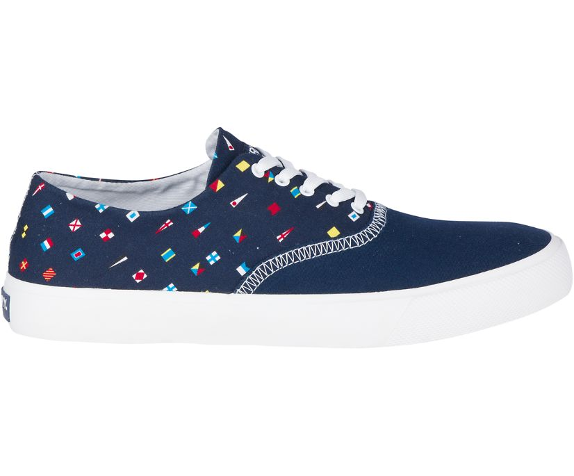 Captain's CVO Prep Flags Sneaker, Navy, dynamic