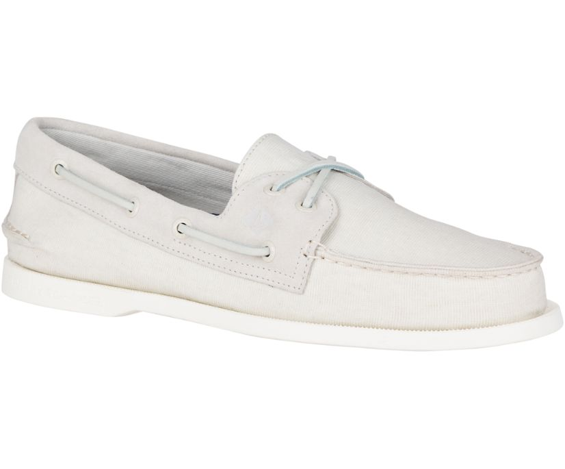 Authentic Original Linen Boat Shoe, Off-White, dynamic