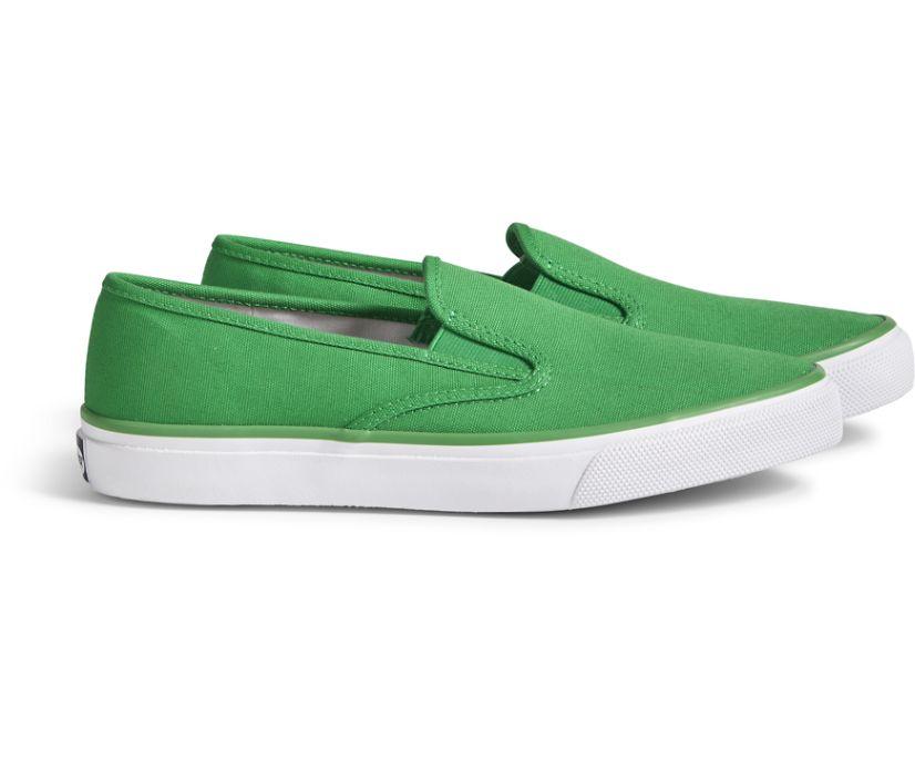 Unisex Cloud Slip On Deck Sneaker, Fern Green, dynamic