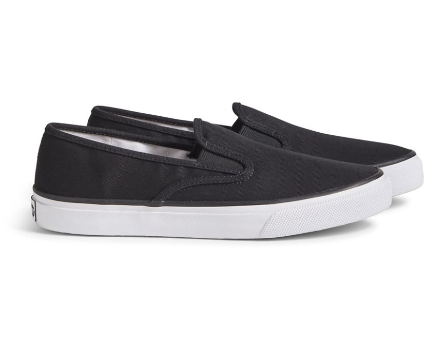 Unisex Cloud Slip On Deck Sneaker, Black, dynamic