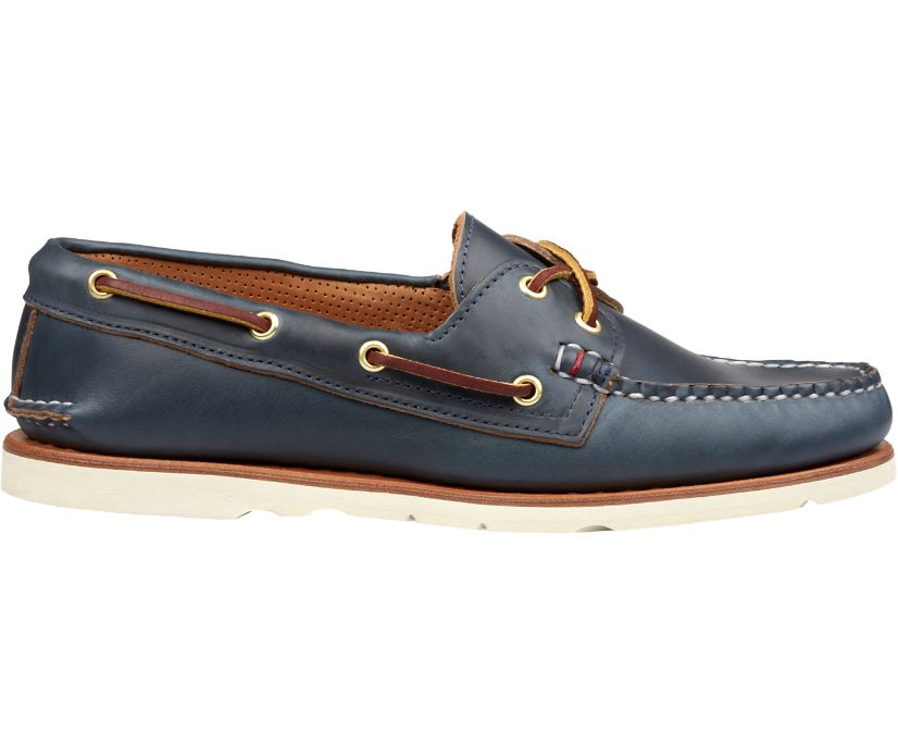 Gold Cup Handcrafted in Maine Authentic Original Boat Shoe, Navy, dynamic