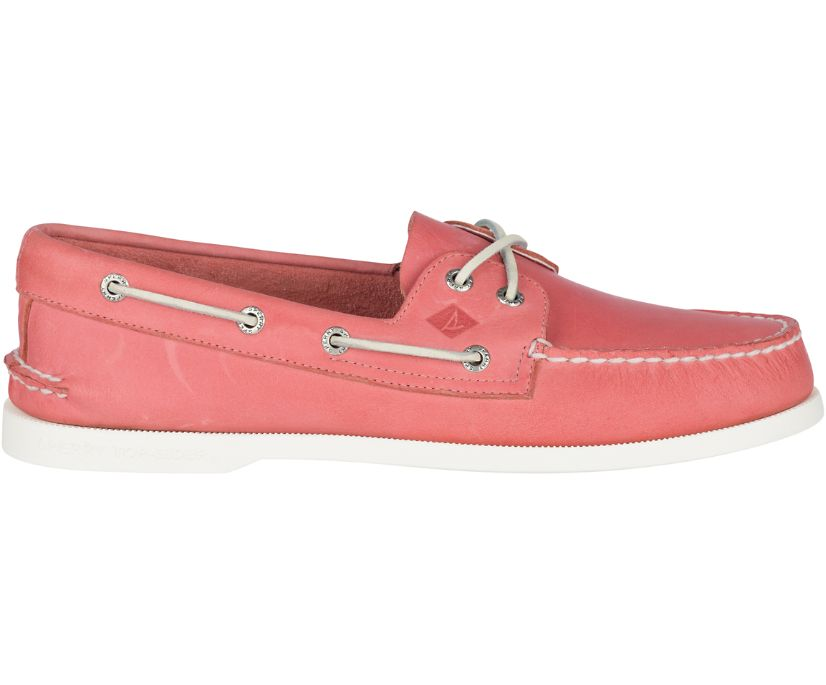 Authentic Original Leather Boat Shoe, Washed Red, dynamic