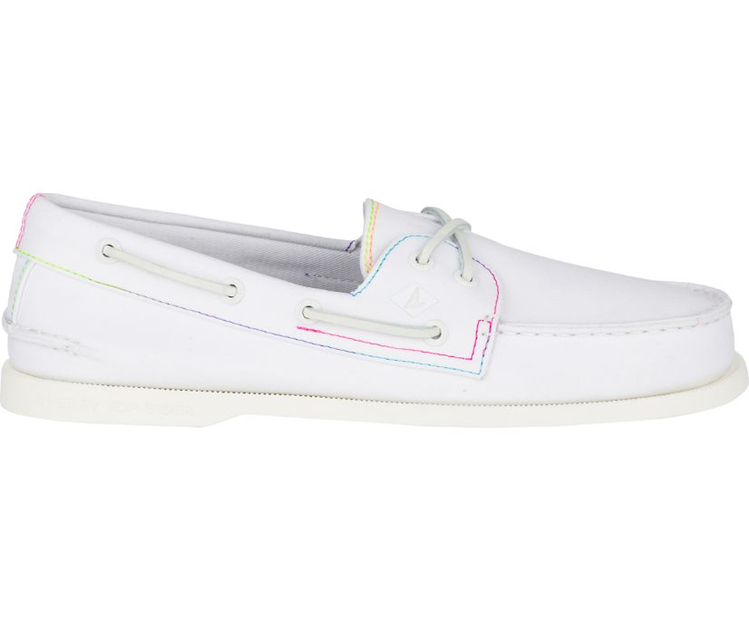 Authentic Original Pride Boat Shoe, White, dynamic