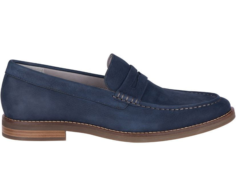 Gold Cup Exeter Penny Loafer, Navy, dynamic