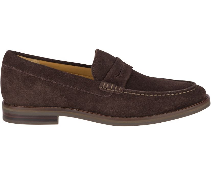 Gold Cup Exeter Suede Penny Loafer, Brown, dynamic