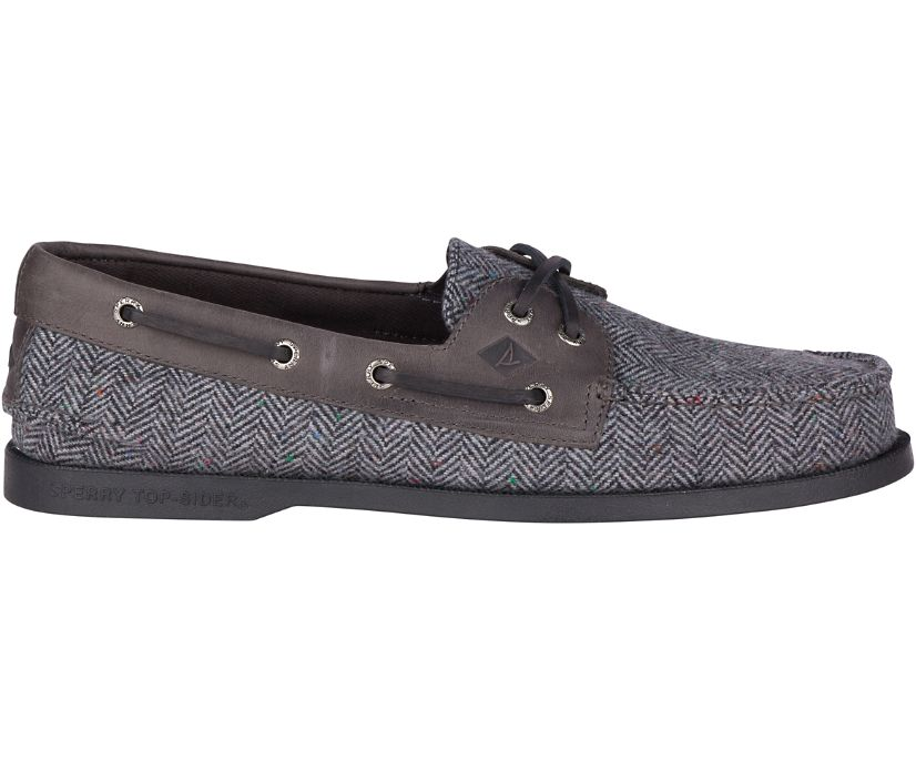 Authentic Original Tailored Boat Shoe, Grey/Black, dynamic