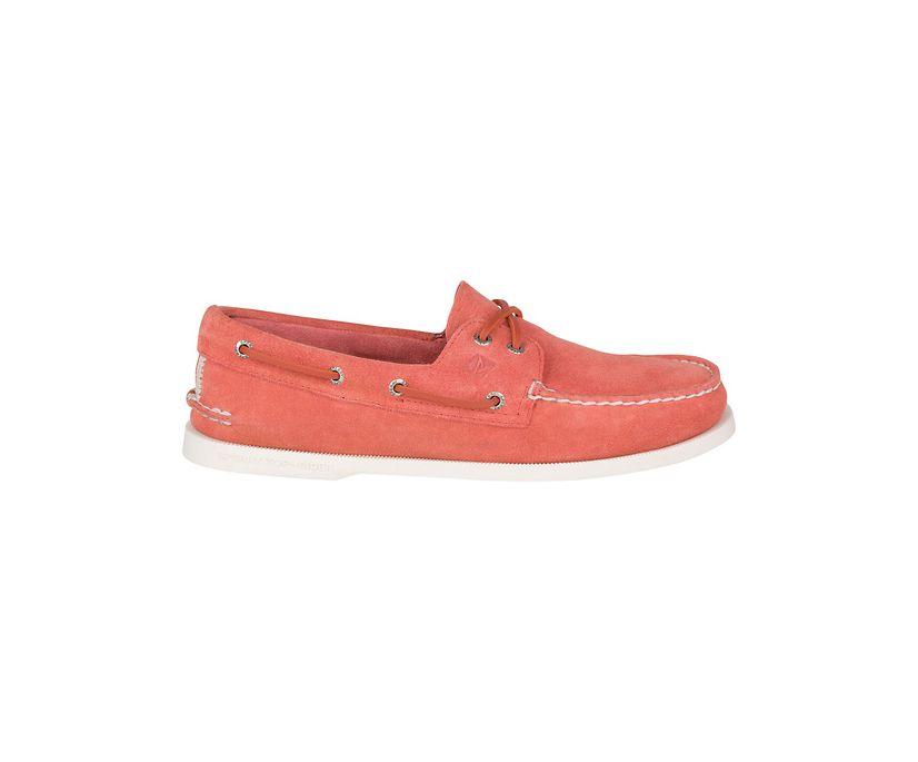 Authentic Original Summer Suede Boat Shoe, Red Orange, dynamic