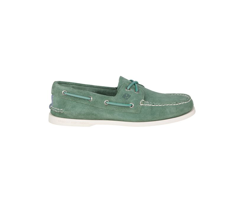Authentic Original Summer Suede Boat Shoe, Green, dynamic