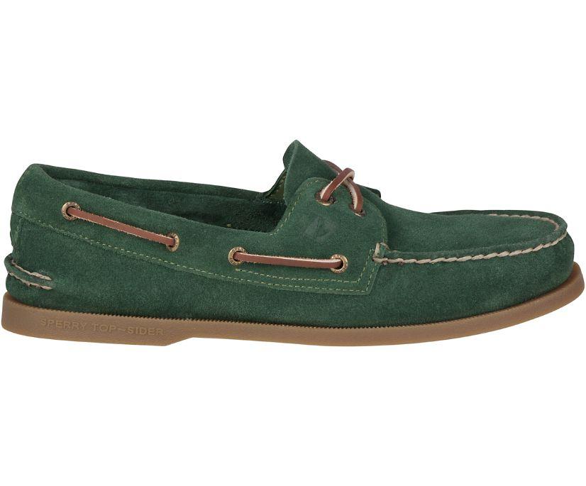 Authentic Original Suede Boat Shoe, Olive, dynamic