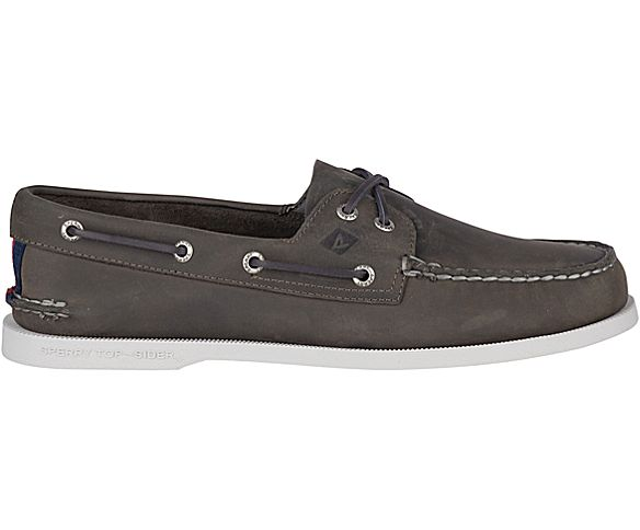 Authentic Original Varsity Boat Shoe, Grey, dynamic