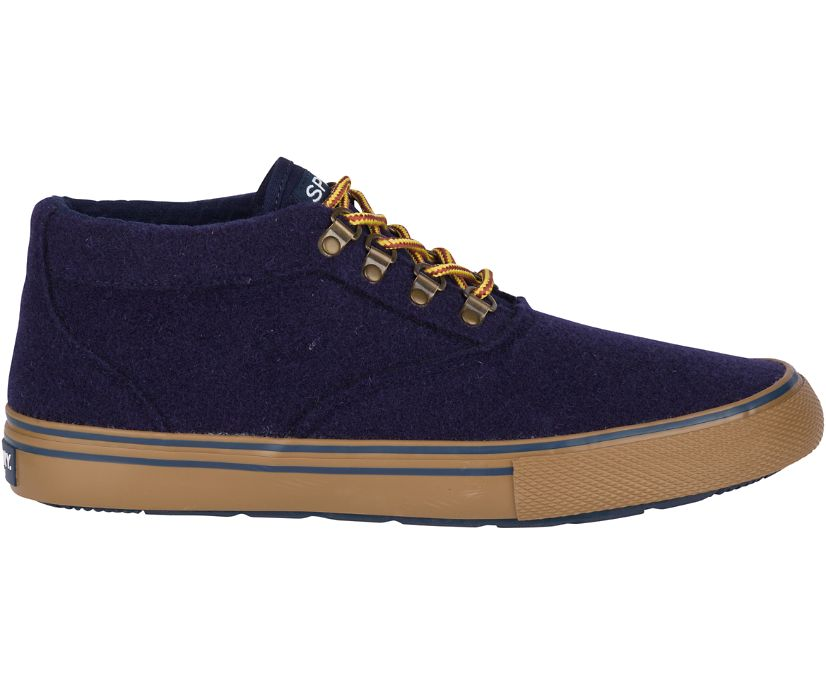 Striper Storm Chukka Boot, Navy Wool, dynamic