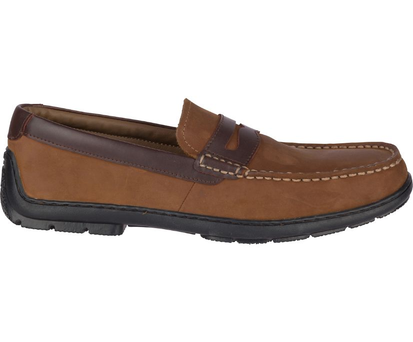 Monterey Penny Loafer, Brown Buc/Amaretto, dynamic