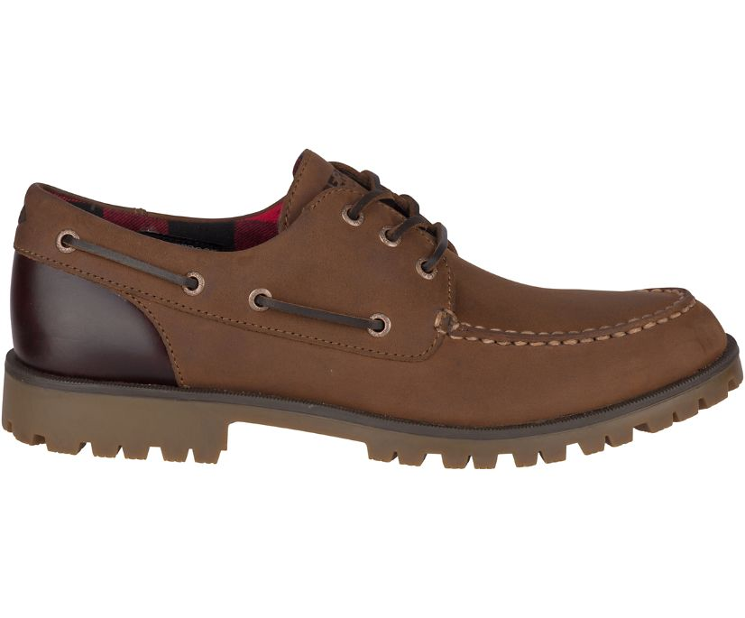 Authentic Original Lug Boat Shoe, Brown/Buc Brown, dynamic