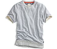 Marled Cutoff Sweatshirt, Heahter Grey, dynamic