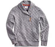 Novelty Shawl Collar Sweatshirt, , dynamic