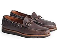 Gold Cup Handcrafted in Maine 1-Eye Camp Moccasin, Dark Brown Kudu Leather, dynamic