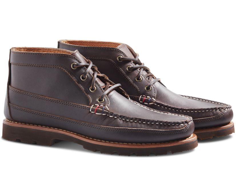 Gold Cup Handcrafted in Maine Chukka, Dark Brown Kudu Leather, dynamic