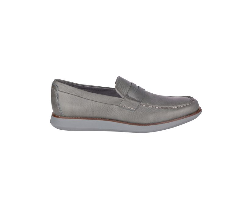 Kennedy Penny Loafer, Grey Tumbled, dynamic