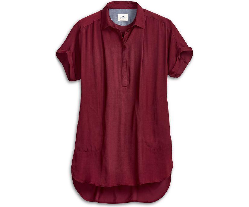 Popover Smock Dress, Red, dynamic