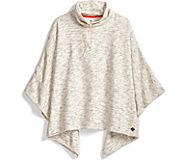 Hoodie Neck Poncho, Heather Grey, dynamic