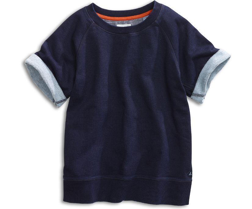 Short Sleeve Raglan Sweatshirt, Indigo, dynamic