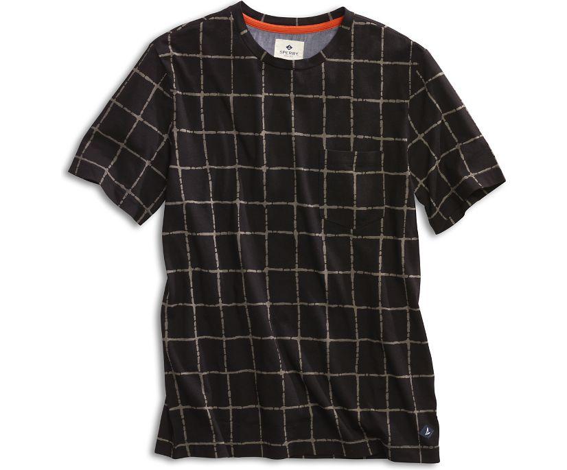 Faded Grid T-Shirt, Black, dynamic