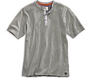 Short Sleeve Henley, Grey, dynamic