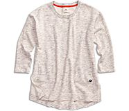 Burnout Tunic Sweatshirt, Heather Grey, dynamic