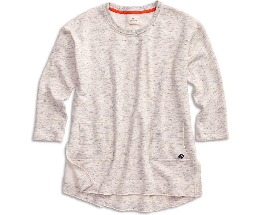 Burnout Tunic Sweatshirt, Heather Grey, dynamic