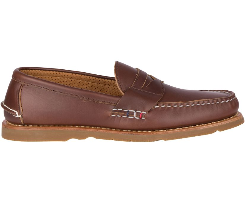 Gold Cup Handcrafted in Maine Penny Loafer, Brown, dynamic