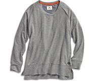 Side Split Pullover, Heather Grey, dynamic