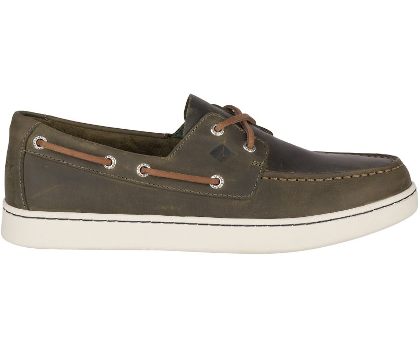 Sperry Cup Boat Shoe, Olive, dynamic