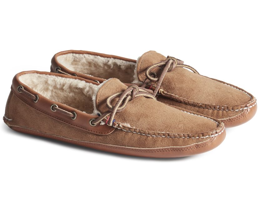 Gold Cup Handcrafted in Maine Slipper, Tan, dynamic