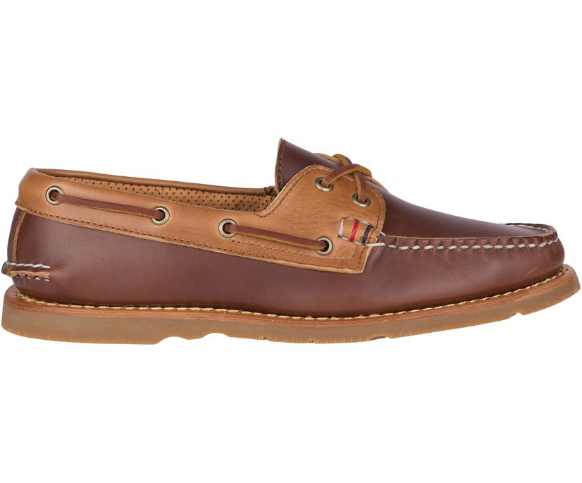 Gold Cup Handcrafted in Maine Authentic Original Tri-Tone Boat Shoe, Brown/Tan, dynamic