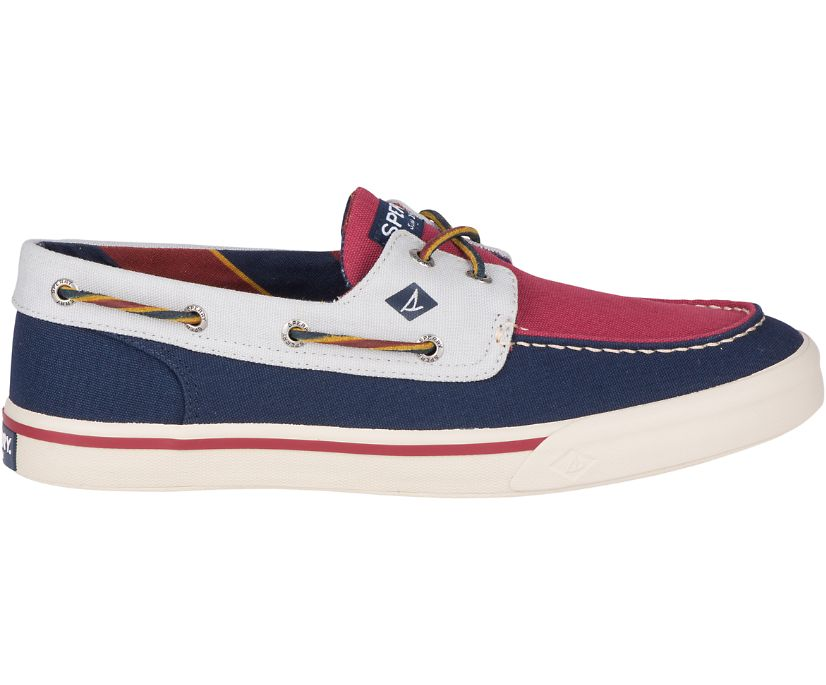 Bahama II Varsity Sneaker, Navy/Burgundy/Grey, dynamic