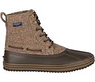Huntington Duck Boot, Brown Wool, dynamic