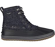 Huntington Duck Boot, Black Wool, dynamic