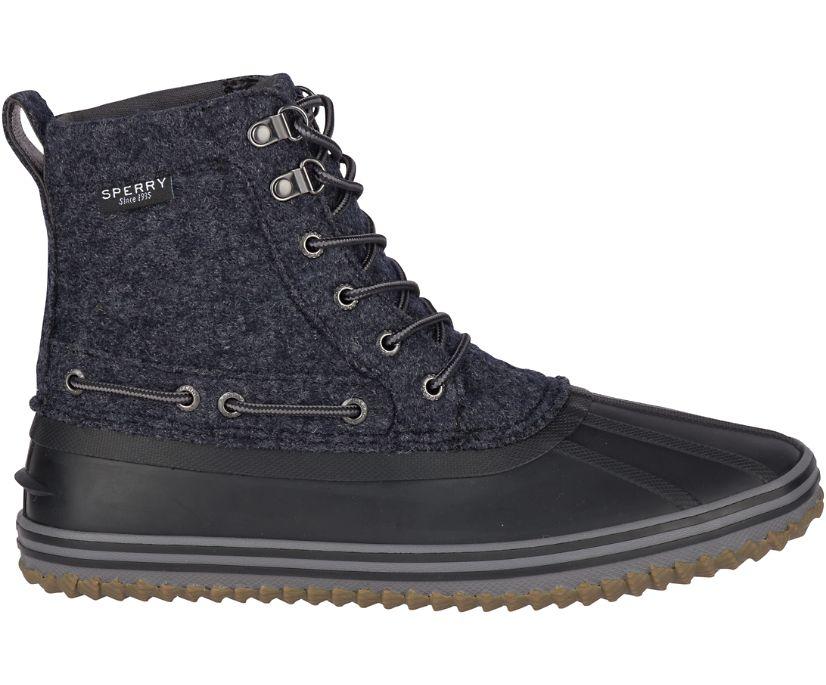 Huntington Duck Boot, Black Wool, dynamic