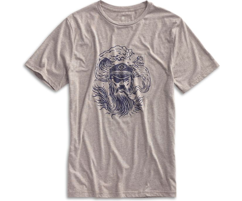 Captain Graphic T-Shirt, Grey, dynamic