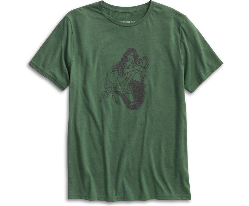 Mermaid Graphic T-Shirt, Olive, dynamic