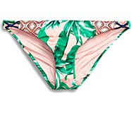 Tropical Palm Print Hipster Swim Bottom, Multi, dynamic