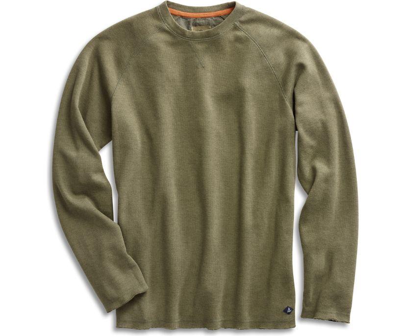 Raw Edge Crew Sweatshirt, Ivy Green, dynamic